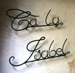 letras/forja/herrería