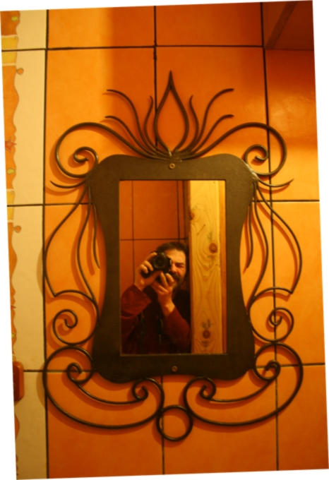 Espejo en hierro forjado