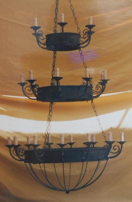 Lámparas y apliques en hierro forjado