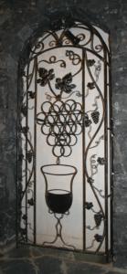 Botellero en hierro forjado